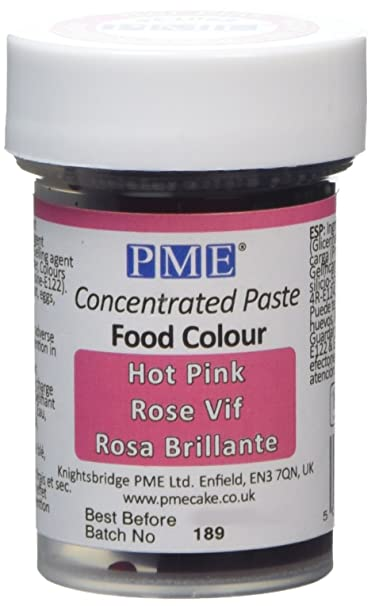 PME Paste Colour Hot Pink 25 g: Amazon.co.uk: Grocery