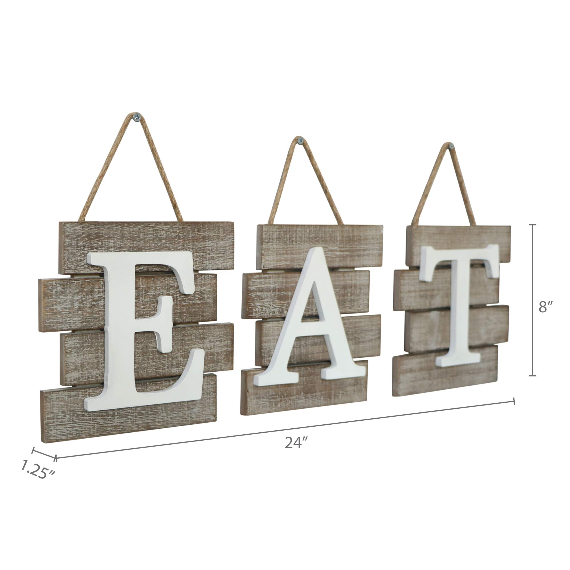 """Barnyard Designs Eat Sign Wall Decor for Kitchen and Home, Distressed Natural, Rustic Farmhouse Country Decorative Wall Art 24'' x 8"""" by Barnyard Designs (Image #7)"""