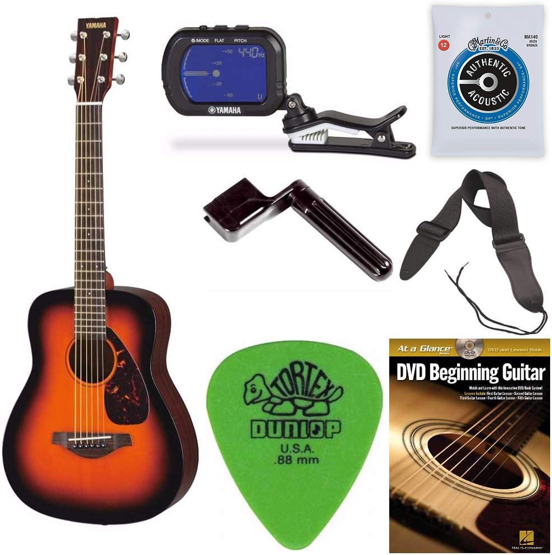 Yamaha JR2TBS - Guitarra de tabaco (escala 3/4, con clip, afinador ...