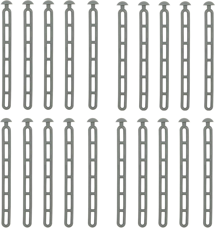 Unbekannt Vientos Escalera 20 unidades tienda Tensor + Remaches cabeza Tensor escalera 6 orificios Tensor 23,5 cm abspanner Set Oferta abspannelement también para una tienda Adecuado: Amazon.es: Deportes y aire libre