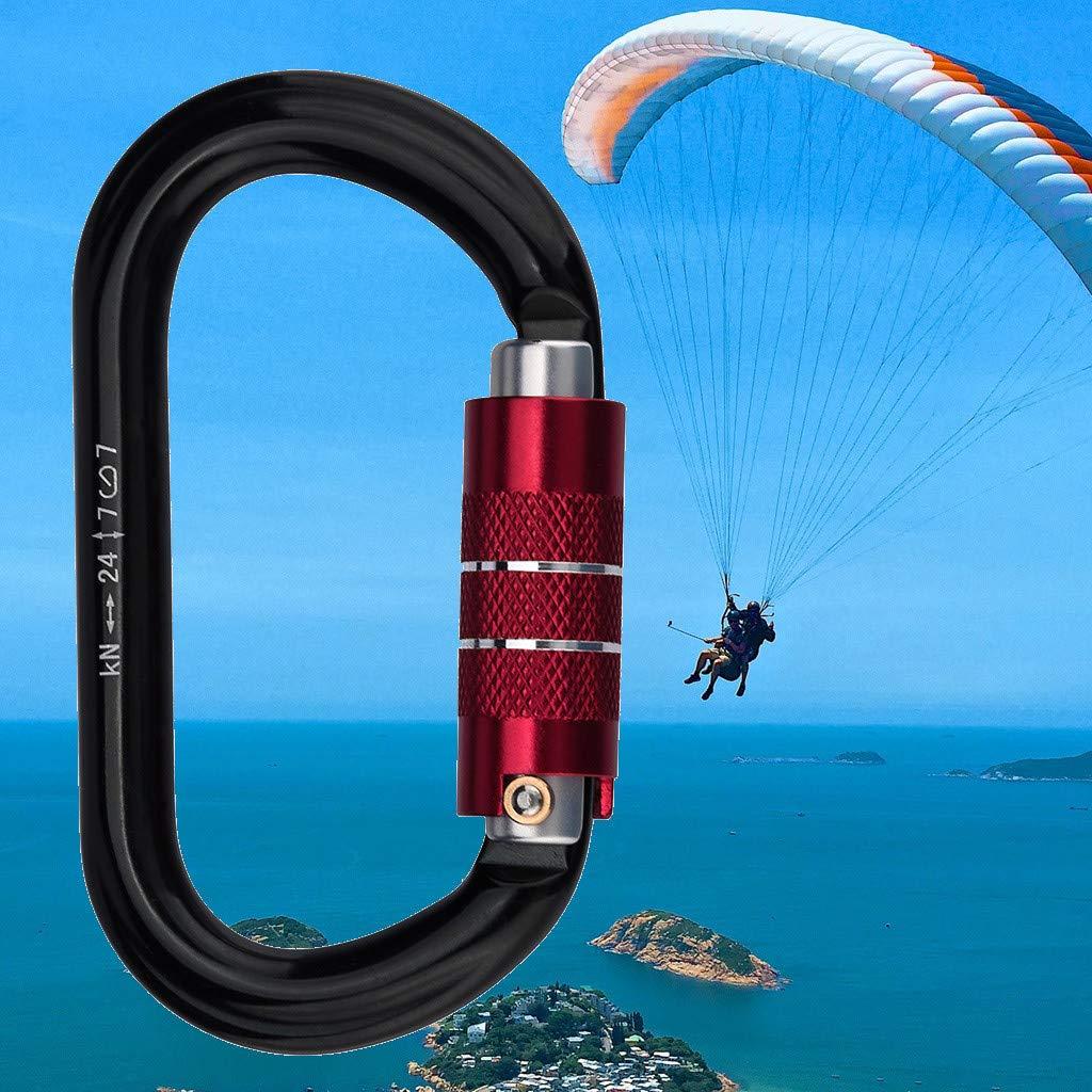Paraglider - Mosquetón de aluminio de 24 quilates con cierre ...