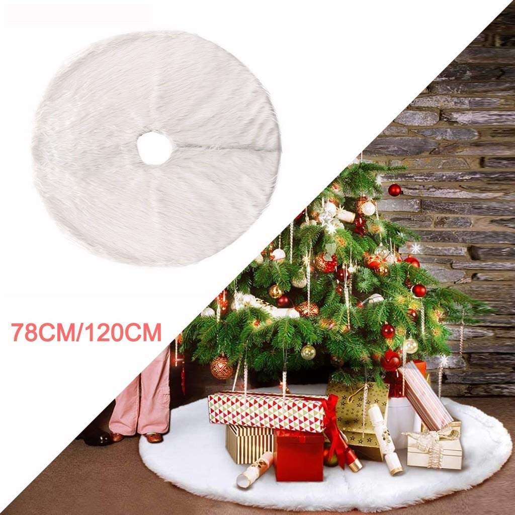 78Cm//102Cm Yazidan Baumdecke Weihnachtsbaum Rock Christbaumdecke Rund Wei/ß Weihnachtsbaumdecke Christbaumst/änder Teppich Decke Weihnachtsbaum Deko