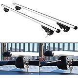 Hardcastle - Sbarre portapacchi in alluminio per tettuccio auto aerodinamiche anti-furto con chiusura - 3 dimensioni
