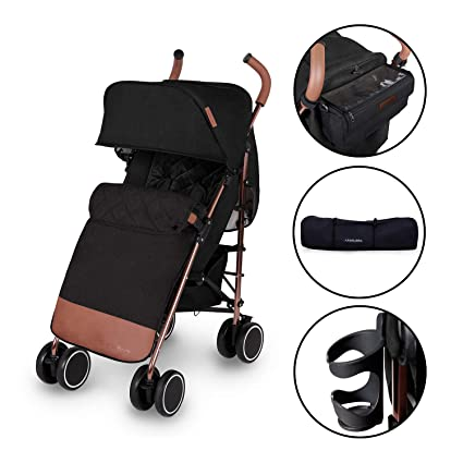 Grey//Silver UPF 50+ Extendable Hood and Rain Cover Compact Fold Technology for Easy Transport and Storage Lightweight Stroller Pushchair Discovery Ickle Bubba Baby Strollers