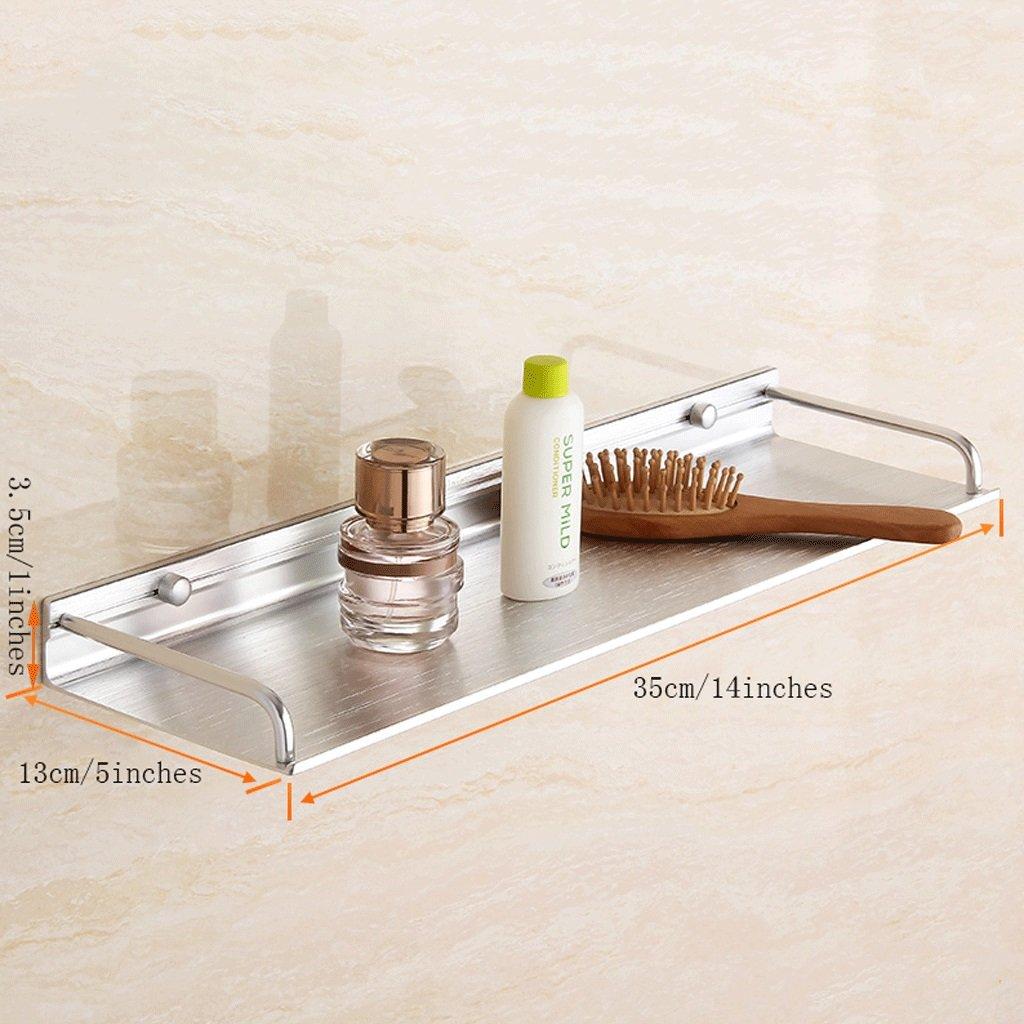YXN Space Aluminum Bathroom Frame Bathroom Solid Thick Metal Pendant Bathroom Single Layer Bathroom Shelf Wall Mount (Size : 35cm)