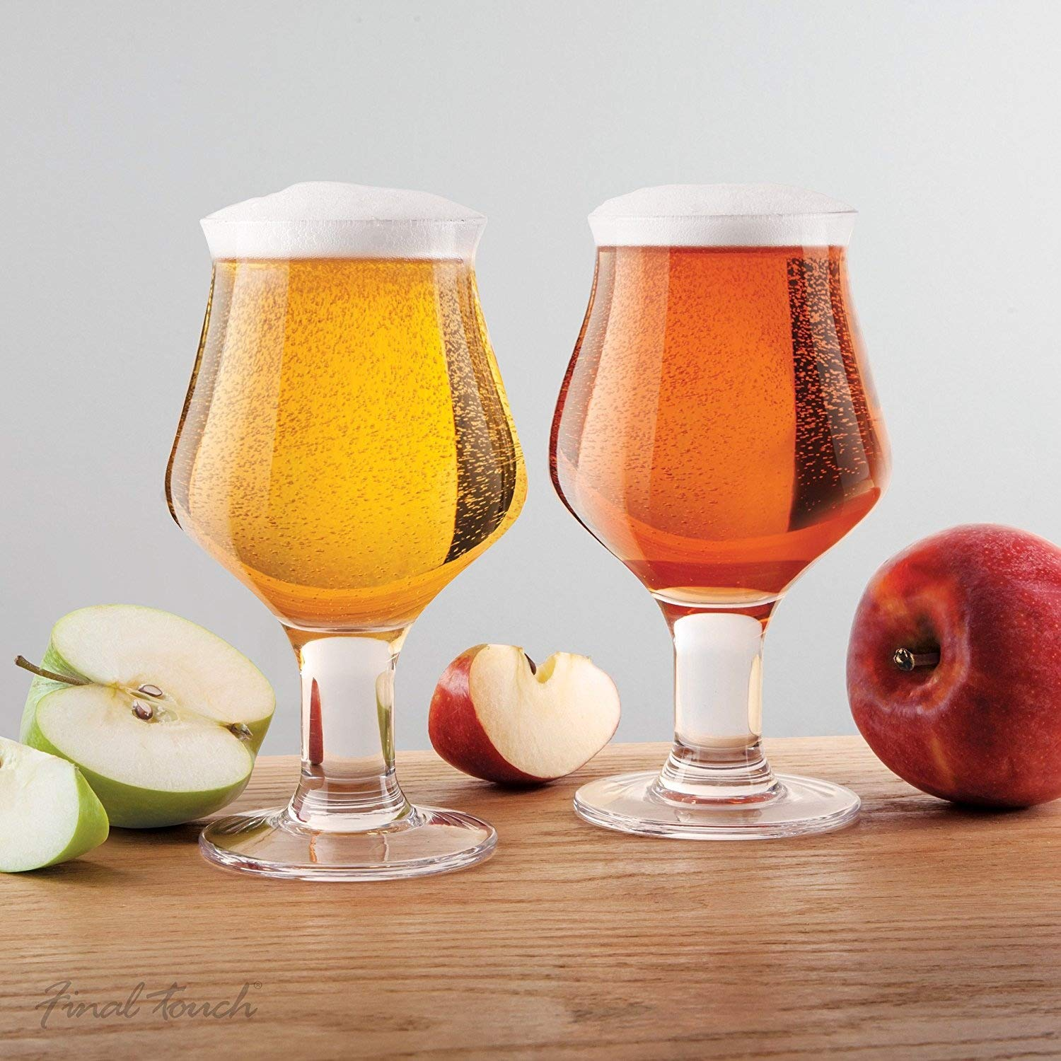 Final Touch Hard Cider Glasses Stemmed Cider Glass Set of 2 475ml GG5018