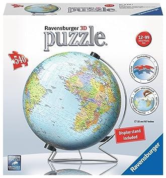 Ravensburger the world on v stand globe 540 pc 3d jigsaw puzzle ravensburger the world on v stand globe 540 pc 3d jigsaw puzzle gumiabroncs Images