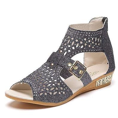 505e73e79 Beauta 2019 Women Summer Sandals Criss Cross Open Toe Ankle Straps Buckle  Flat Sandal Gladiator Strappy Buckle Casual Dress Sandals Wedding Shoes for  Women