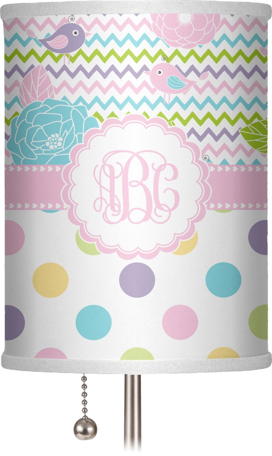 RNK Shops Girly Girl 7'' Drum Lamp Shade Polyester (Personalized)