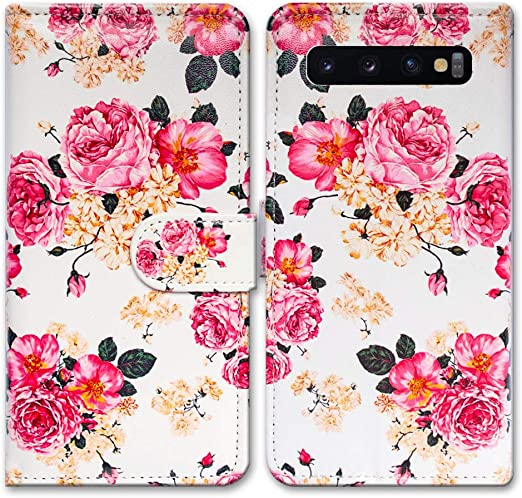 flower2 Wallet Case for Samsung Galaxy S10 Plus Leather Cover Compatible with Samsung Galaxy S10 Plus