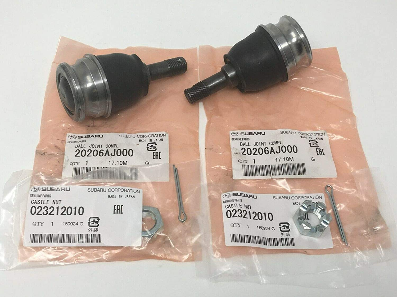 Subaru Suspension Front Lower Ball Joint Nut and Pin Kit Set Of 2 Impreza 20206AJ000 023212010 051030300 OEM Genuine Baja Outback Legacy Forester Impreza Crosstrek Sti Wrx