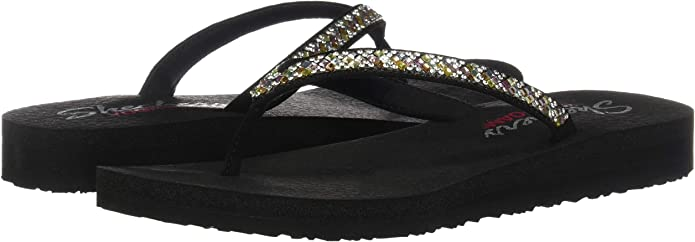 Skechers Meditation Perfect 10, Sandales Bout Ouvert Femme