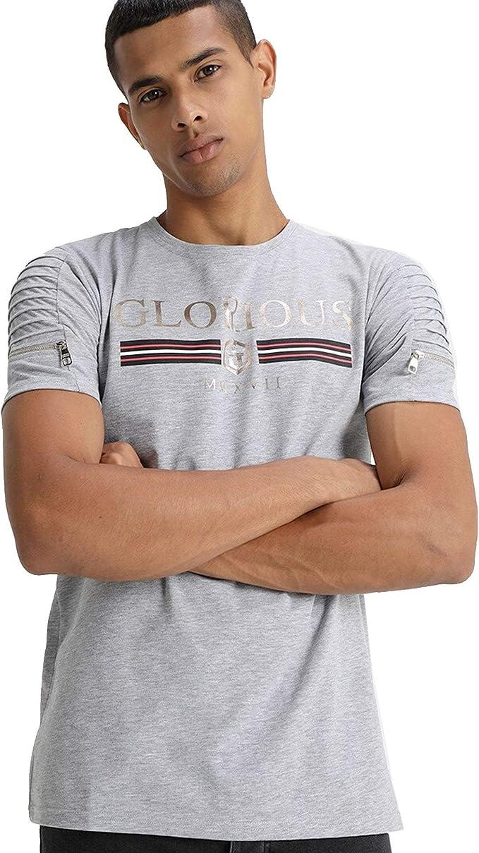 Glorious Gangsta Boyett Foli Stripe T-Shirt Stone