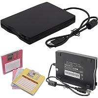 8,9cm Externe tragbare USB-Diskettenlaufwerk FDD 1,44MB für Laptop PC, kompatibel mit Windows 98/SE/2000/ME/XP/Vista/Windows 7