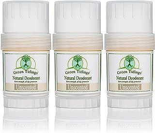 product image for Green Tidings Natural & Unscented Deodorant | Vegan, Organic Deodorant for Men and Women, Fragrance Free & Aluminum Free Deodorant, Underarm Antiperspirant 1oz 3 Pack (15% Off)