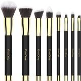 Makeup Brushes EmaxDesign 8 Pieces Makeup Brush Set Face Eye Shadow Eyeliner Foundation Blush Lip Powder Liquid Cream Cosmetics Blending Brush Tools (Golden Black)