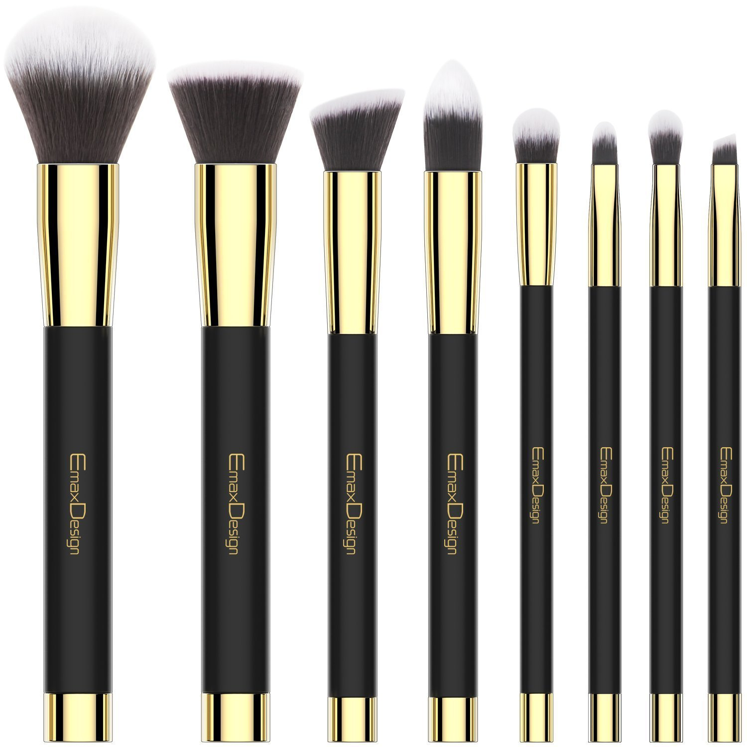 2e957ede3d195 Amazon.com  Makeup Brushes EmaxDesign 8 Pieces Makeup Brush Set Face Eye  Shadow Eyeliner Foundation Blush Lip Powder Liquid Cream Cosmetics Blending  Brush ...