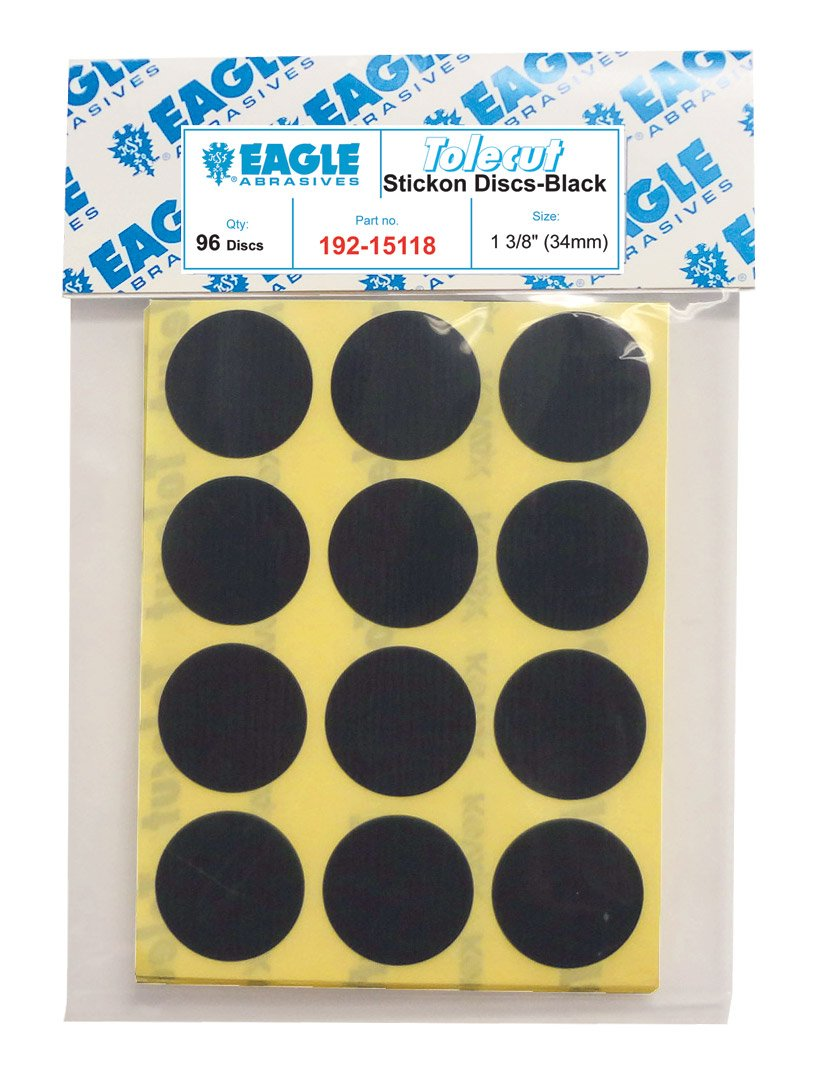 96 discs//Pack Tolecut Touch Up Stickon Discs Black Eagle 192-15118 34mm
