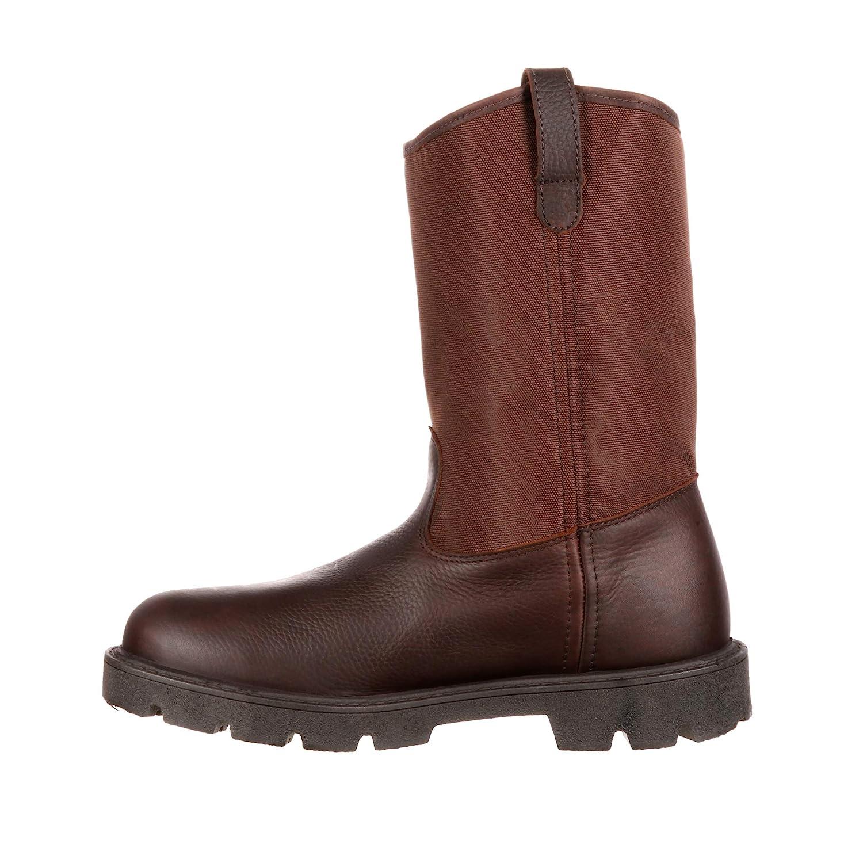 Georgia Mens 11 Homeland Waterproof Wellington Boot-G113 Brown M9