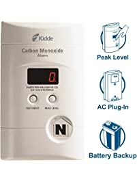 Kidde Nighthawk Plug-in AC/DC Carbon Monoxide Alarm Detector with Digital Display KN
