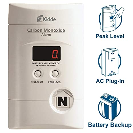 Kidde 4 Pack KN-Copp-3 Nighthawk Plug-in Carbon Monoxide Alarm with Battery Backup and Digital Display - - Amazon.com