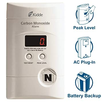 Kidde 900-0076-01 KN-COPP-3 Nighthawk Plug in Carbon Monoxide Detector Alarm