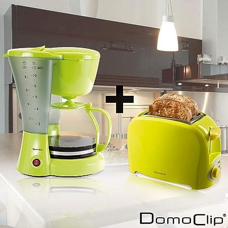 Set de desayuno Cafetera-Tostador, color verde: Amazon.es: Hogar