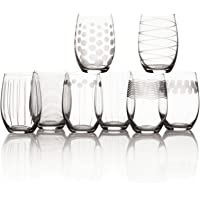 Deals on Set of 8 Mikasa Cheers Stemless Wine Glass 17oz