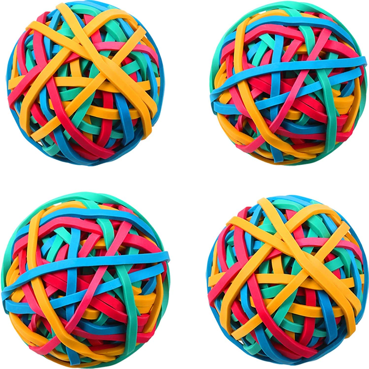Document Organizing 4 Roll Rubber Band Balls About 400 Pieces Colorful Rubber Bands Stretchable Rubber Bands Stationery Holder Elastic Band Loops for DIY Arts and Crafts