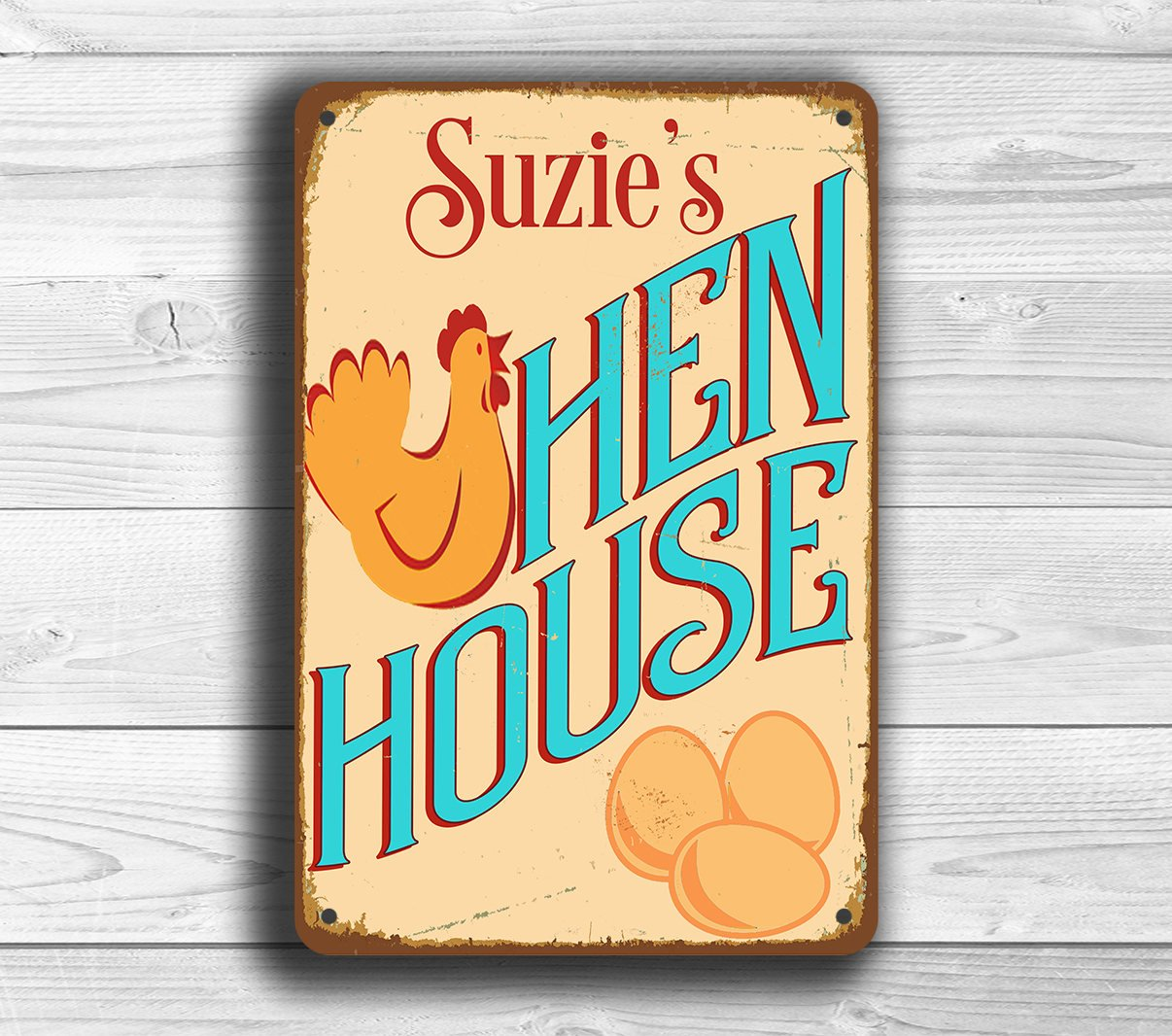 Amazon.com: Personalized CUSTOM Hen House Sign, Vintage style Hen ...
