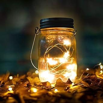 Luces De Jardin Solares,Qomolo 15 LED Luz Jardín Impermeable ...