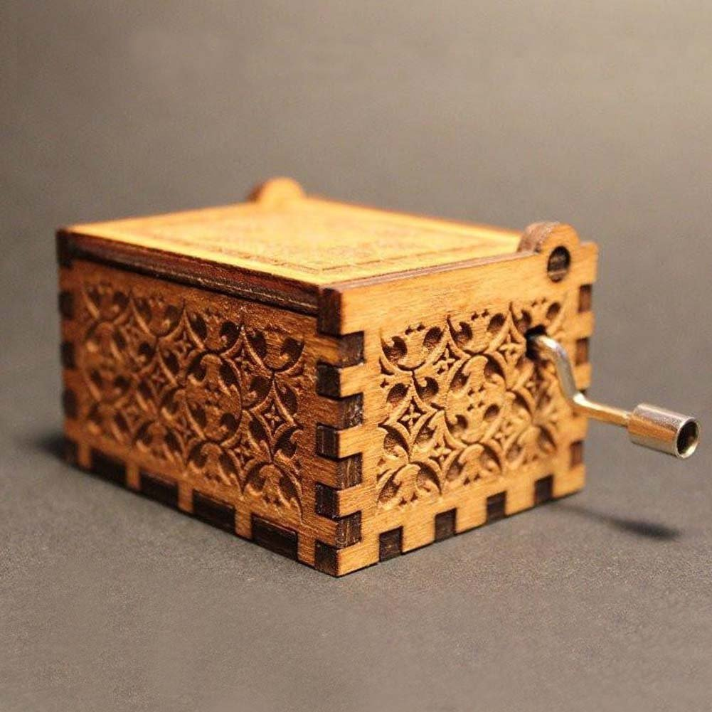 Tacohan Harry Hedwigs Theme Music Box Handmade Engraved Wooden Musical Boxes Excellent Gifts Toys Decoration
