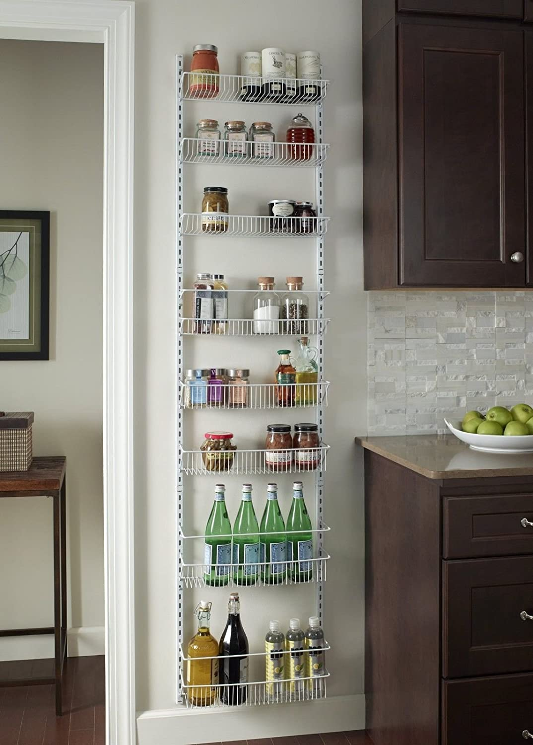 Amazon.com: Gracelove Over The Door Spice Rack Wall Mount Pantry Kitchen  8 Tier Cabinet Organizer: Kitchen U0026 Dining