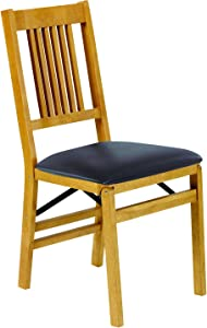 Stakmore True Mission Folding Chair Finish, Set of 2, Oak