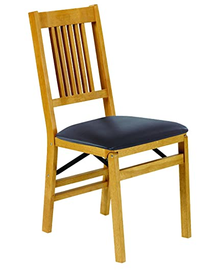 Stakmore True Mission Folding Chair Finish Set of 2 Oak  sc 1 st  Amazon.com & Amazon.com - Stakmore True Mission Folding Chair Finish Set of 2 ...