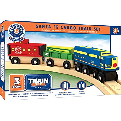 MasterPieces Lionel Santa Fe Cargo Real Wood Toy Train Set: Toys & Games