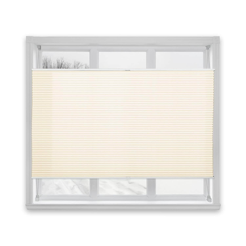 casa pura Semi-Translucent Pleated Blind, Plissee Magic - Cream, 100 x 150 cm | 8 Sizes Available