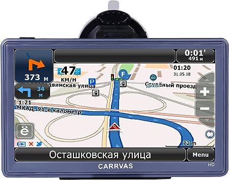 GPS para Coche CARRVAS 7 Pulgadas Sat Nav Full HD Pantalla Táctil Navegador GPS para Camión Actualización Gratis de Mapa de Europa Toda la Vida: Amazon.es: Electrónica