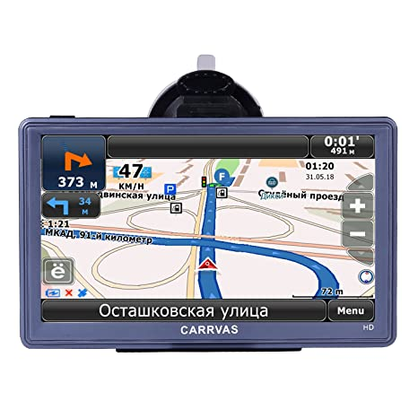 GPS para Coche CARRVAS 7 Pulgadas Sat Nav Full HD Pantalla Táctil Navegador GPS para Camión