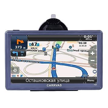 GPS para Coche CARRVAS 7 Pulgadas Sat Nav Full HD Pantalla Táctil Navegador GPS para Camión Actualización Gratis de Mapa de Europa Toda la Vida: Amazon.es: ...