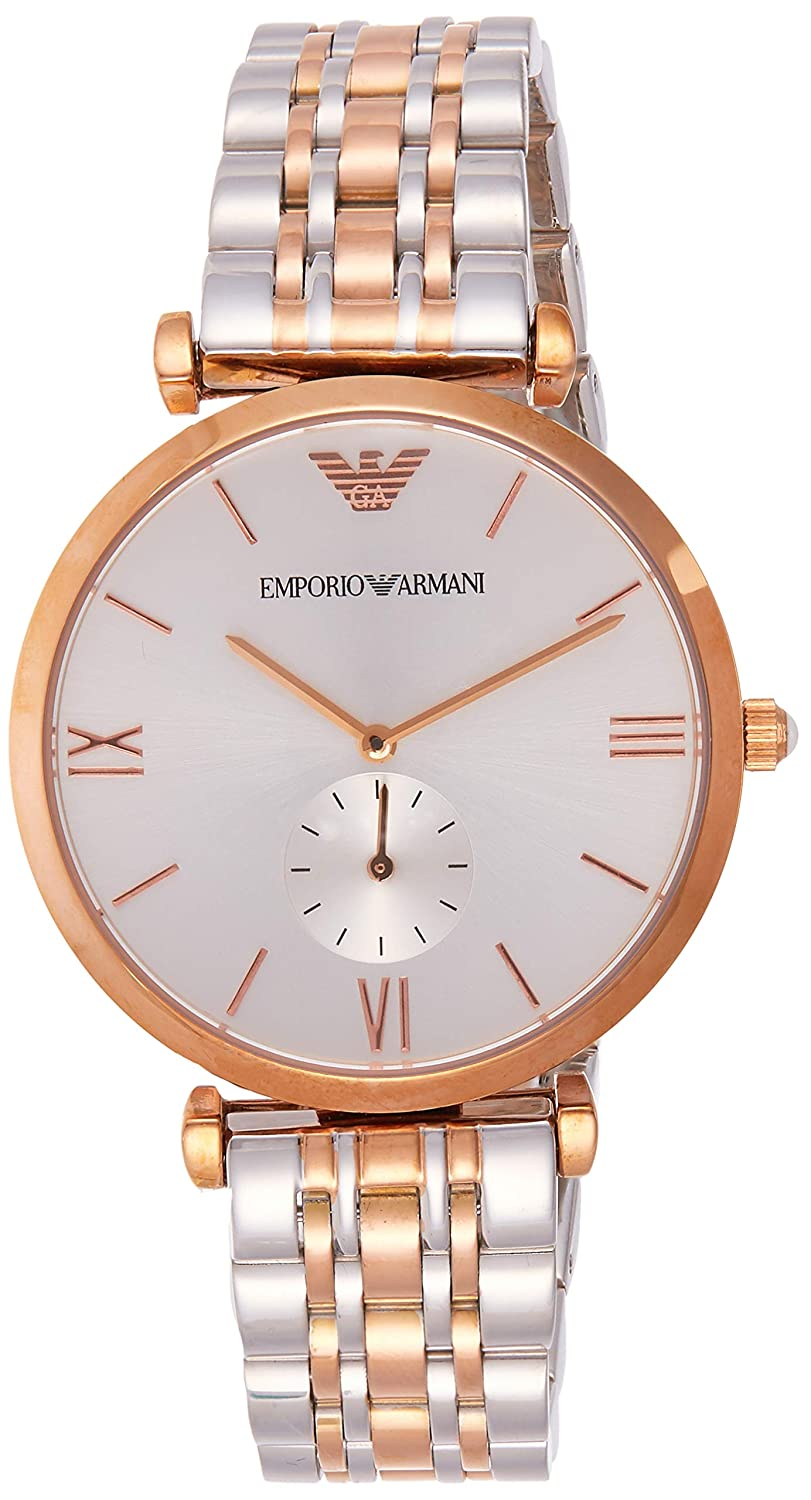 Emporio Armani Women s Quartz Watch with Stainless-Steel-Plated Strap, Two Tone, 18 Model AR1677
