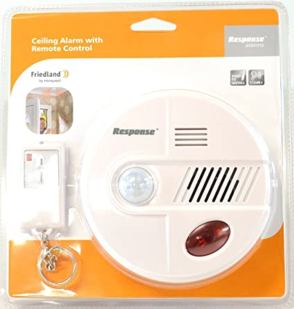 Friedland - Alarma de sirena de seguridad de 360° PIR para detección de movimiento,
