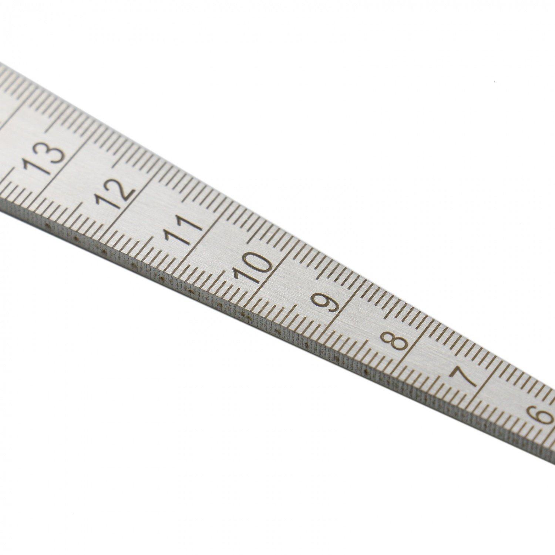 HUELE Stainless Steel Taper Gage 1//32-5//8 Inch 1-15mm Welding Gauge Test Ulnar Inch/&Metric