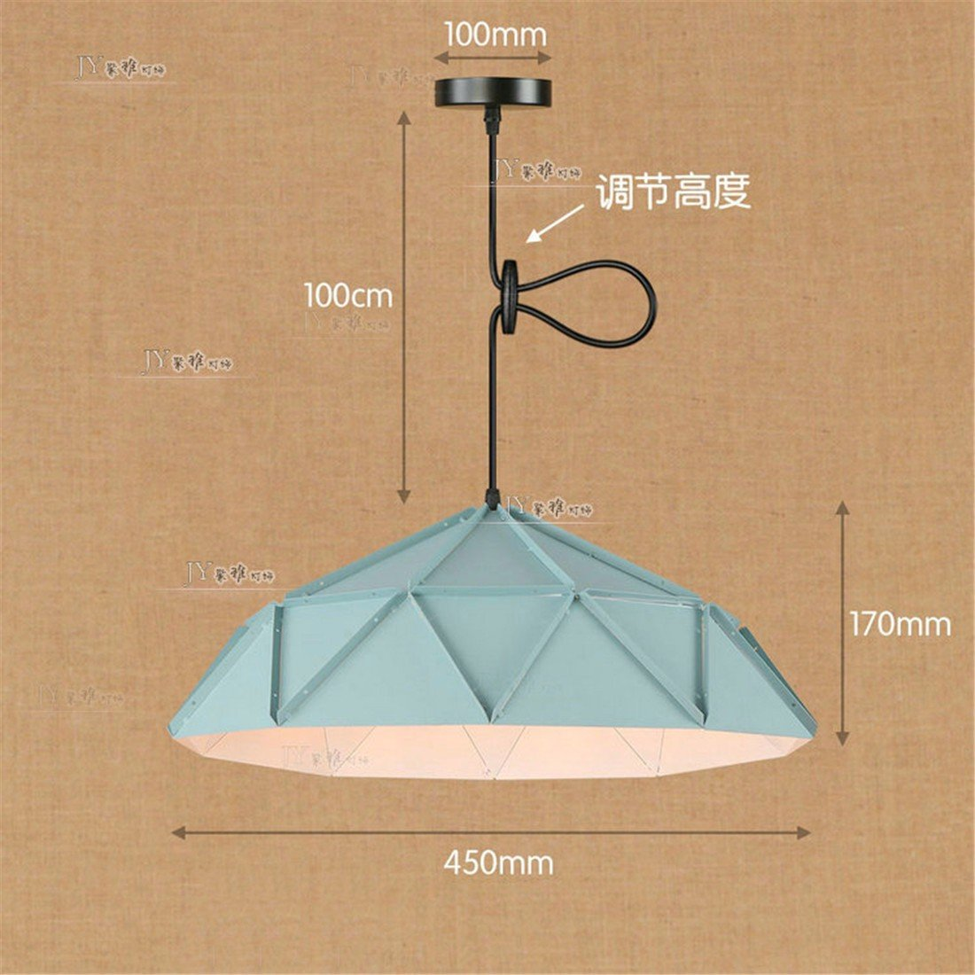 LAONA Iron art industry, wind pendant lamp, dance, gym, classroom office, simple single head creative Chandelier