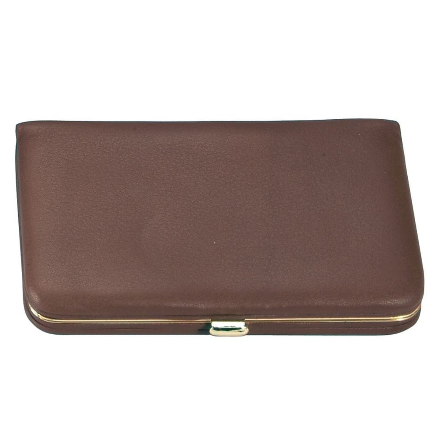 Royce Leather Framed Business Card Case Coco