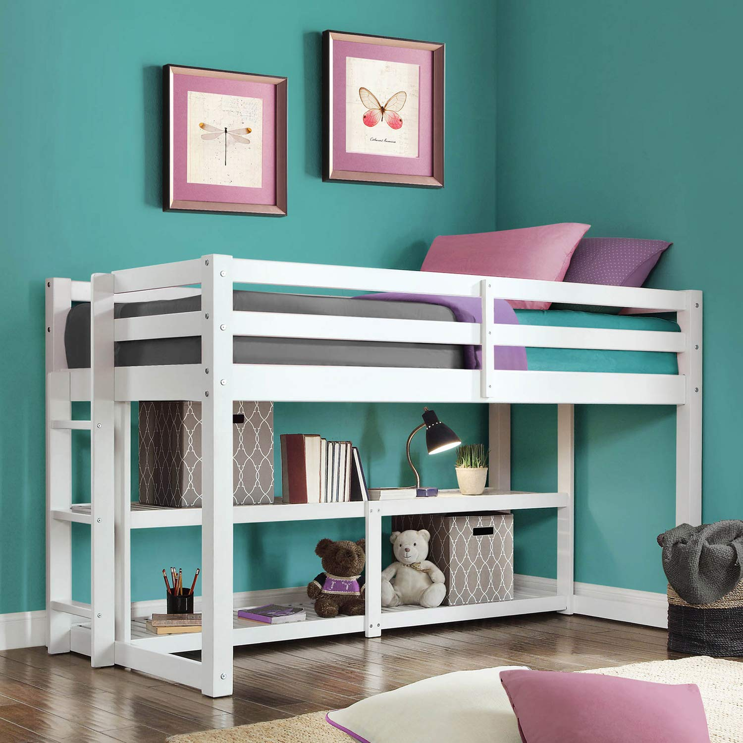 Loft Storage Bed (White) by Better Homes & Gardens