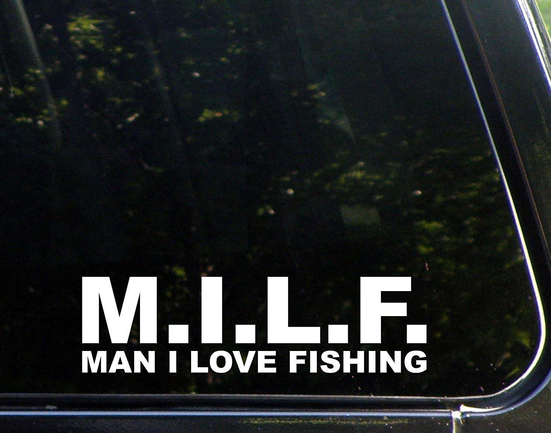 Bumper Sticker I Love Milfs Funny Decal Vinyl Car Hard Hat Decor Waterproof