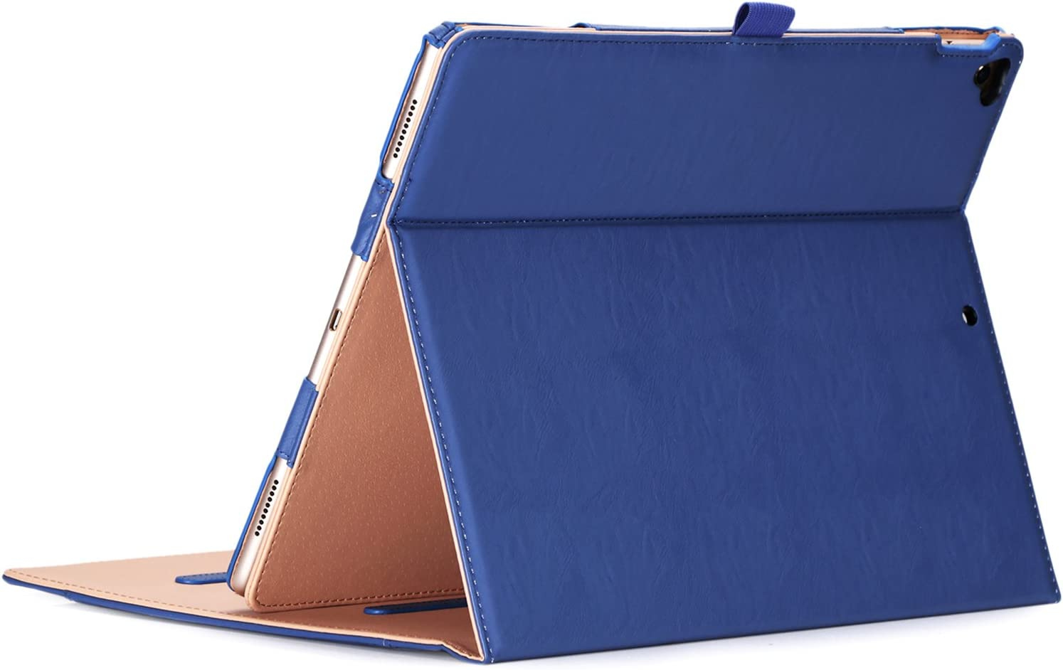 ProCase iPad Pro 12.9 2017/2015 Case (Old Model) - Stand Folio Case Cover for Apple iPad Pro 12.9 Inch (Both 2017 and 2015 Models), with Multiple Viewing Angles, Apple Pencil Holder -Navy Blue