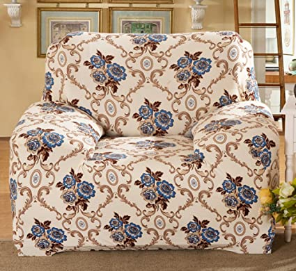 Brilliant Chezmax Floral Pattern Sofa Cover Polyester Fabric Sofa Protector 1 Piece Soft Stretched Sofa Slipcovers Ncnpc Chair Design For Home Ncnpcorg