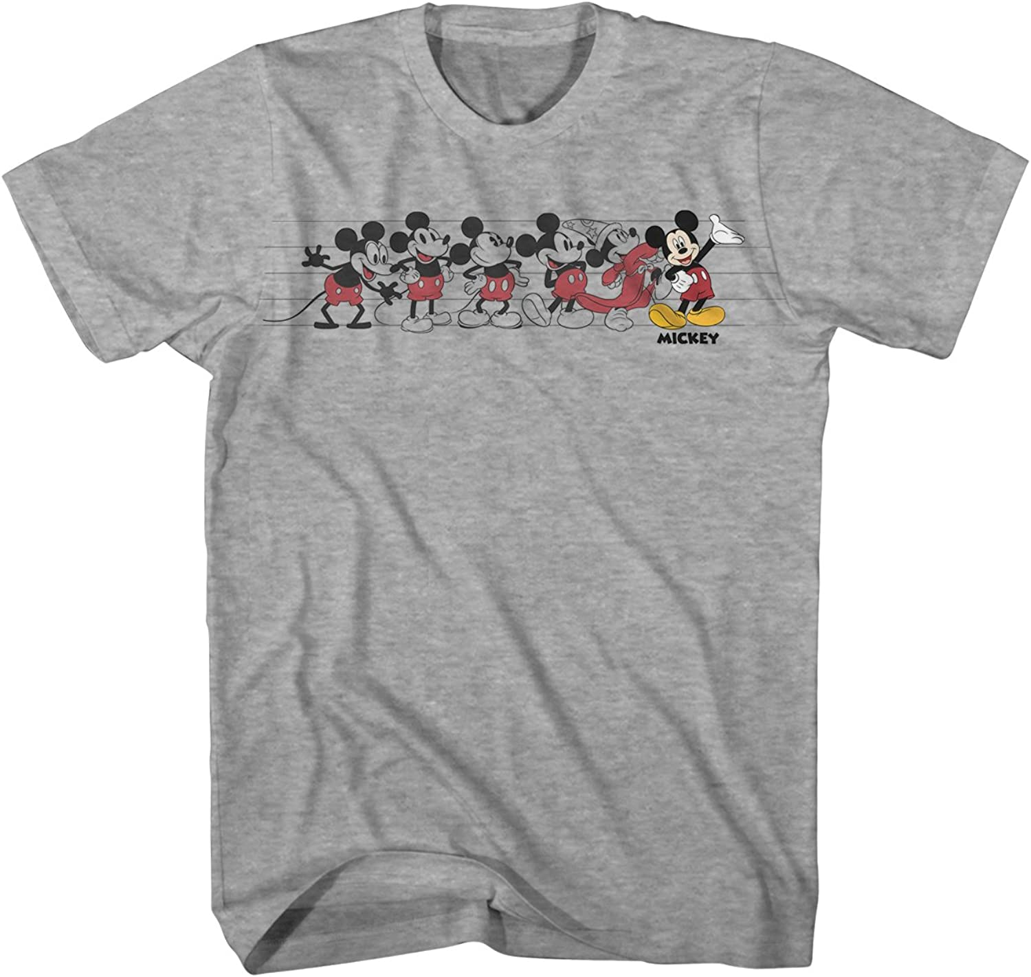 Mickey Mouse Graphic Tee Classic Vintage Disneyland World Adult Tee Graphic T-Shirt for Men Tshirt Clothing Apparel